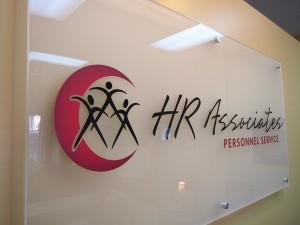 HR Associates Lobby Sign
